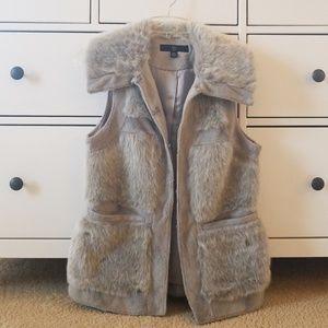 Rachel Zoe Luxe Gray Faux Fur Vest